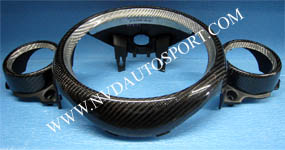 BMW Mini R55, R56, R57, R58, R59 carbon fiber center gauge ring