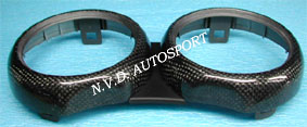 BMW mini R53 Carbon fiber double gauge tachometer ring